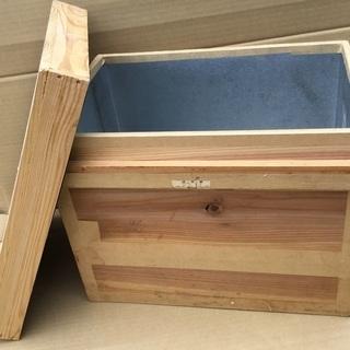 ◉茶箱・容量10㌔・お菓子、食品などを湿気から守る。