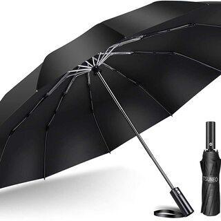 【新品】【強化版 12本骨】 折りたたみ傘 自動開閉 軽量 折り...