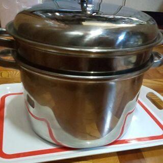 メッシュ付き茹で鍋