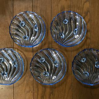 クリスタル小皿5枚セット