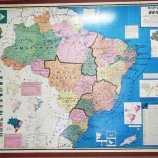 ブラジル 地図パネル