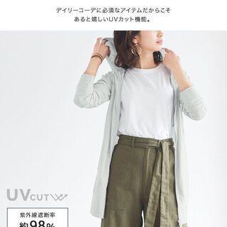 【新品】【10カラー、4サイズから選択】UVカット 綿混 スラブ...