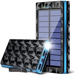 最新進化版 モバイルバッテリー 大容量 26800mAh ソーラ...