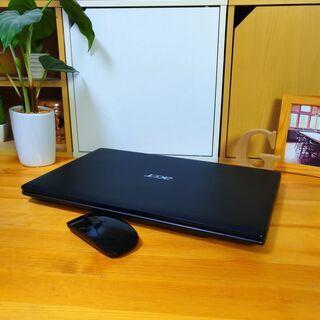 core5で大容量500Gの高性能Acer♪ 極美品! 最新Windows10 64Bit☆ 高級感のあるモダンブラック♪  メモリ4G テンキー内蔵  大画面15.6インチ   黒 高級感 マウス付き  ノートパソコン 無線LAN Wi-Fi対応 DVDドライブ - 売ります・あげます
