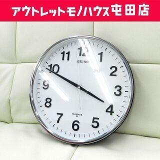 昭和レトロ SEIKO/セイコー クオーツ 学校 壁掛時計 丸型...