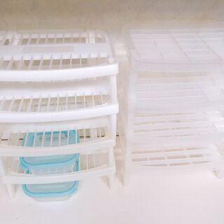キッチンお皿収納 棚 タッパーセット
