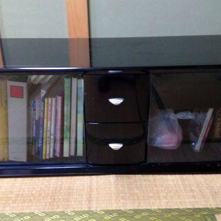 テレビ台、リビングボード、黒、天板強化ガラス   最終値下げです!!