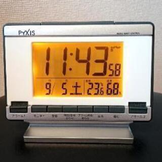 タイマー2種類セット可能な目覚まし電波時計(フルオートカレンダー)