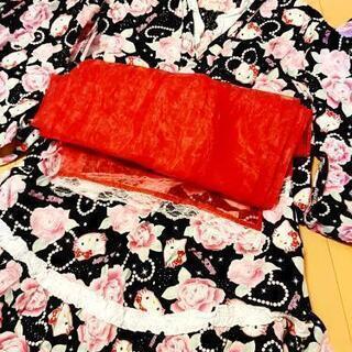 キティちゃん浴衣セット100cm