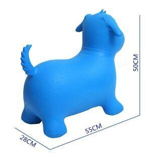 インフレータブルジャンプ犬、ライド弾む動物,青