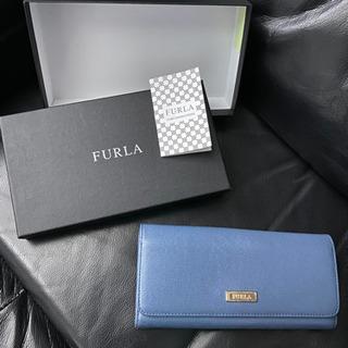 ✨超美品✨FURLA フルラ 長財布 ブルー系