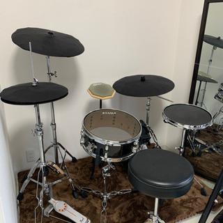 トレーニングドラムセット(消音・防振加工) 売ります 消音シンバル付き
