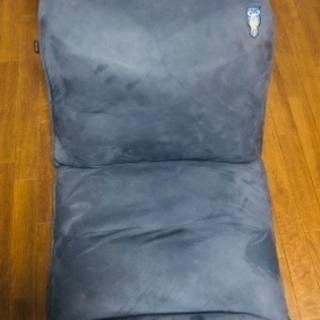 座椅子 紺色(パッチワーク付き)