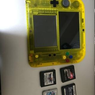 ニンテンドー2DS ピカチュウ版本体 + ソフト4本