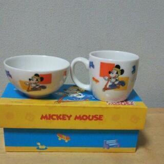 ミッキー、ミニー  子供用茶碗とマグカップセット