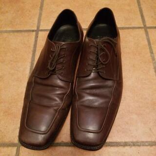 BOSS 茶 革靴 8.5インチ 26.5~27cm程度