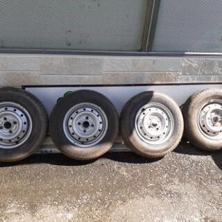 軽トラ用鉄ホイール付タイヤ6PR