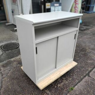 ライオン 2段引違扉付きハイカウンター書庫『良品中古、小傷あり』...