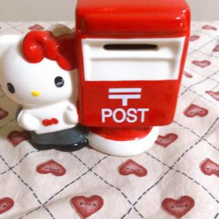 ハローキティ貯金箱 陶器貯金箱