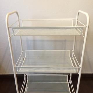 IKEA可動式3段ラックWHITE