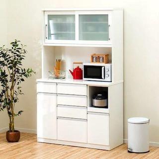 ニトリ食器棚/キッチンボード/クリスナ120/ホワイト/ティッシ...