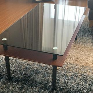 【取りに来て頂ける方限定】ローテーブル(ガラス板)