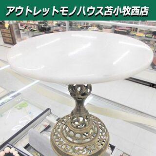 雑貨 テーブル ミニテーブル 石造り風 アンティーク風 ホワイト...