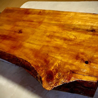 天然無垢ポプラの樹一枚板 格安でお譲りします! - 家具