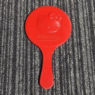 キティちゃんの赤い手鏡