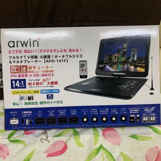 新品・★アーウィンジャパン APD-141F ポータブル DVD...