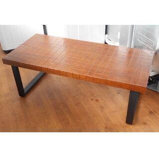 ♪センターテーブル 格子デザイン 112cm♪