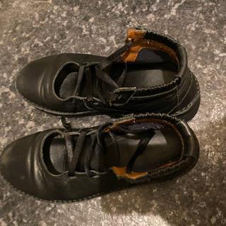 25.0センチ超幅広履きやすい皮黒ブーツ