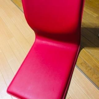 モダン座椅子【赤】