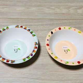 なっちゃんボウル皿2個セット(2色あり)新品