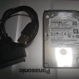 【良好】東芝 2.5インチHDD 500GB SATA 6.0Gb