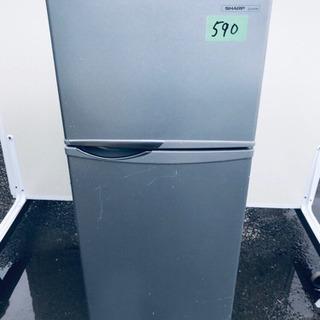 590番 シャープ✨ノンフロン冷凍冷蔵庫✨SJ-H12W-…