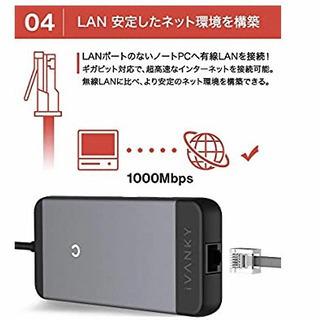 新品  7-in-1 USB Type C ハブ ドッキングハブ【4K / HDMI出力ポート / 100W PD3.0 対応USB-Cポート / 1000Mbps イーサネット / 2つの USB-A ポート/micro SD & SDカード スロット搭載 】 MacBook Pro/iPad Pro/ChromeBook 他対応 テレワーク リモート - 売ります・あげます