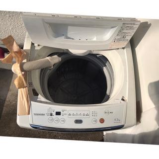 TOSHIBA 洗濯機 4.2㌔ AW-42ML(W)