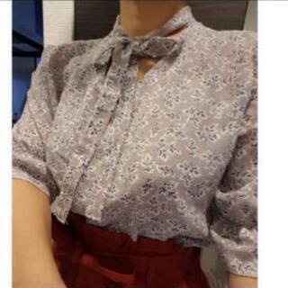 韓国インポート 小花柄 シフォンシャツ