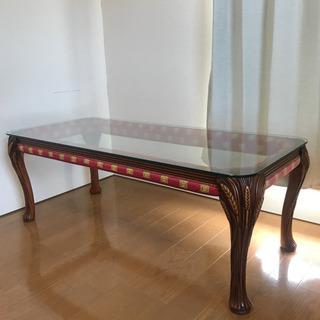 ヨーロッパ イタリア ガラステーブル