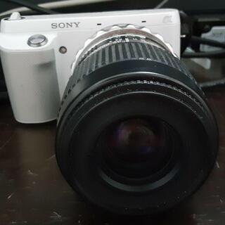 ソニー ミラーレスカメラ NEX-F3 ニコンレンズ付