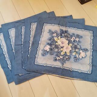 座布団カバー 5枚セット 薄手の生地 花柄 絞り風