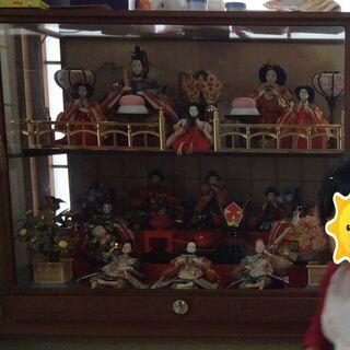 【譲ります】昭和のガラスケース入り ひな人形