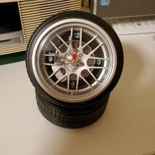 卓上型 タイヤ時計 アラーム付
