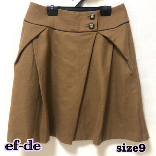 ef-de キャメルスカート サイズ9