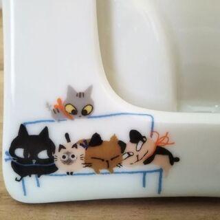 シンジ カトウ 猫の陶器製写真立て - 売ります・あげます