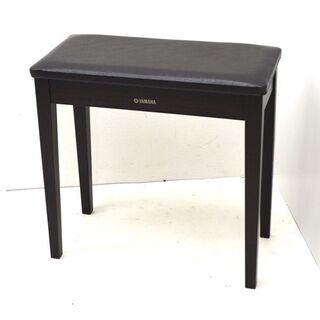② ヤマハ ピアノ椅子 ダークブラウン 高さ固定式 60×30×...
