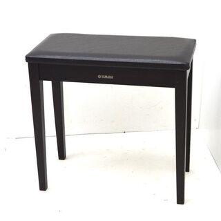 ③  ヤマハ ピアノ椅子 ダークブラウン 高さ固定式 60×30...