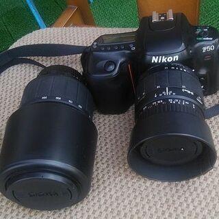 フィルムカメラ+レンズ2本+バック+その他