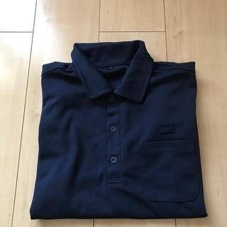 美品 制服 長袖ポロシャツ S